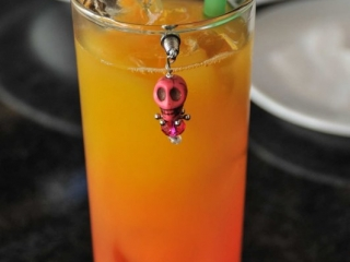 Cocktail with Day of the Dead trinket
