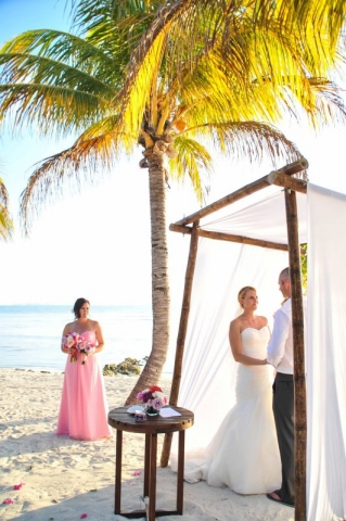 Bridesmaid watching vows