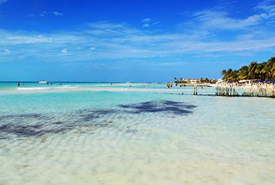 Isla Mujeres white sand beach