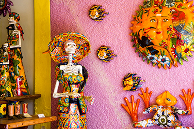 Colorful Ceramics in Shop