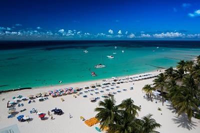 Playa Norte during tourist season