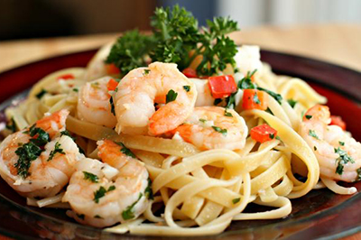 Fettucini with Shrimp