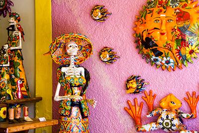 Colorful Ceramics in Shop