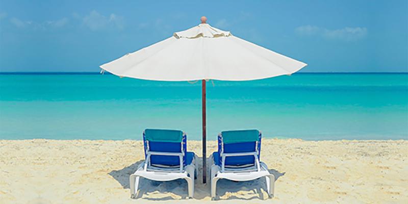 Beaches chairs on Playa Norte