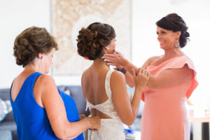 Bride with moms