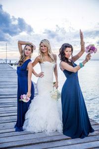 Bride with 2 bridesmaids